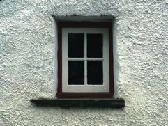 Comfortable proportions of sash window